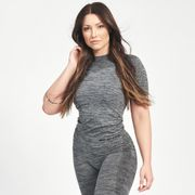 Seamless Carol T-shirt, Grey Melange