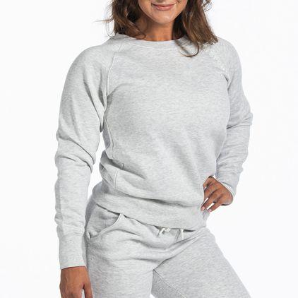 Basic Sweater Christie, Light Grey Melange