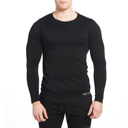 Seamless Colin L/S T-shirt, Black